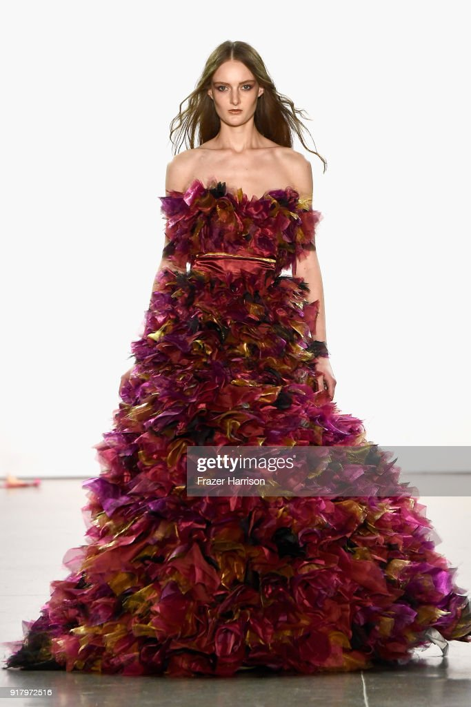 A model walks the runway for Vivienne Hu during New York Fashion Week: The Shows at Gallery II at Spring Studios on February 13, 2018 in New York City.