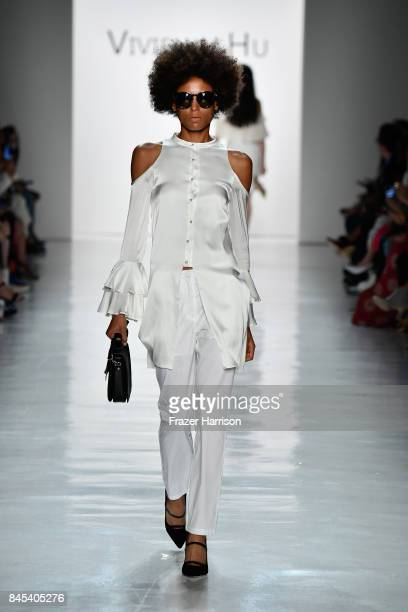 A model walks the runway for Vivienne Hu fashion show during New York Fashion Week The Shows at Gallery 3 Skylight Clarkson Sq on September 10 2017...
