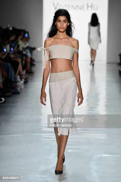 Model walks the runway for Vivienne Hu fashion show during New York Fashion Week: The Shows at Gallery 3, Skylight Clarkson Sq on September 10, 2017...