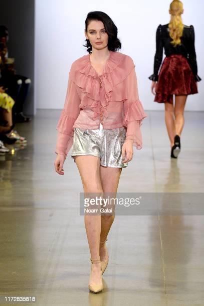 A model walks the runway for Vivienne Hu Spring/Summer 2020 New York Fashion Week Runway Show during New York Fashion Week The Shows at Gallery II at...
