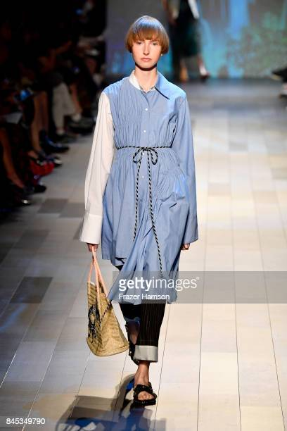 A model walks the runway for Vivienne Tam fashion show during New York Fashion Week The Shows at Gallery 1 Skylight Clarkson Sq on September 10 2017...