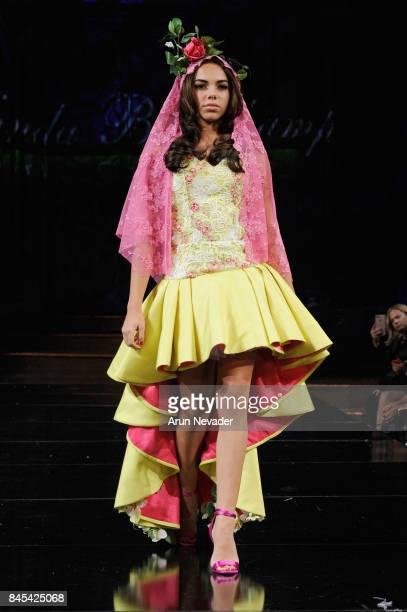 A model walks the runway for Wanda Beauchamp at New York Fashion Week NYFW Art Hearts Fashion at The Angel Orensanz Foundation on September 10 2017...