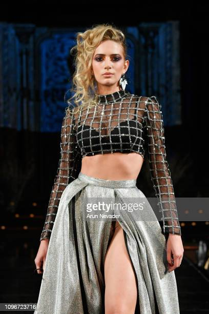 A model walks the runway for WILLFREDO GERARDO At New York Fashion Week Powered By Art Hearts Fashion NYFW at The Angel Orensanz Foundation on...