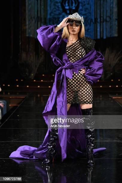 A model walks the runway for WILLFREDO GERARDO At New York Fashion Week Powered By Art Hearts Fashion NYFW at The Angel Orensanz Foundation on...