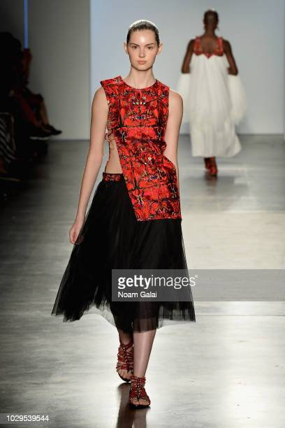 A model walks the runway for XY at Global Fashion Collective II during New York Fashion Week The Shows on September 8 2018 in New York City