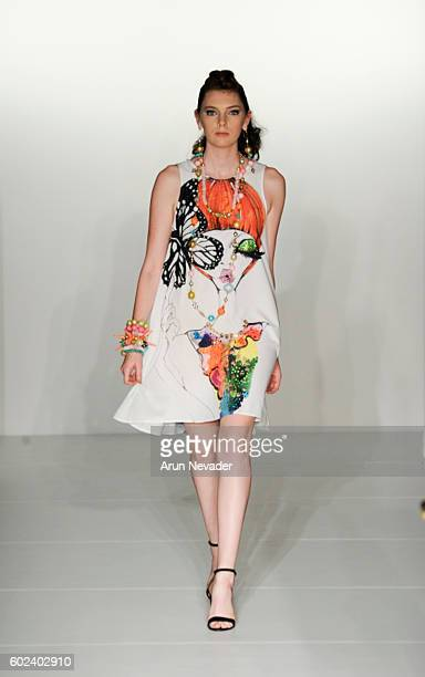 A model walks the runway for Yvette Crocker at the Designers' Collective fashion show during New York Fashion Week September 2016 at the Affinia...