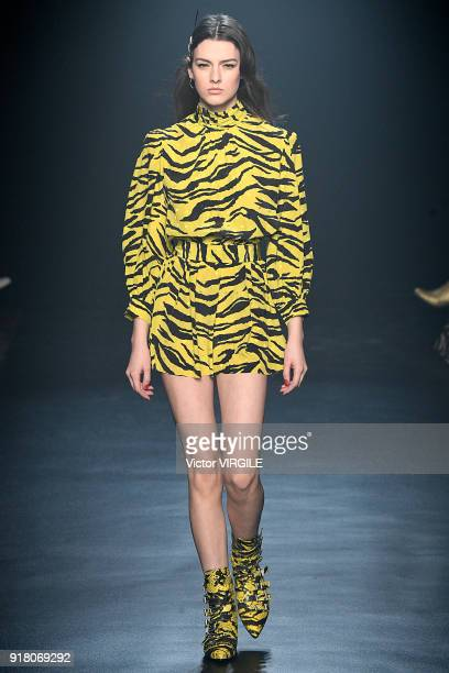A model walks the runway for Zadig Voltaire Ready to Wear Fall/Winter 20182019 fashion show during New York Fashion Week on February 12 2018 in New...