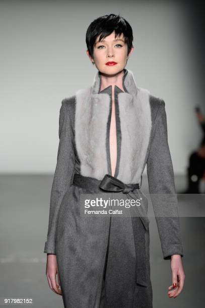 A model walks the runway for Zang Toi during New York Fashion Week The Shows at Pier 59 on February 13 2018 in New York City