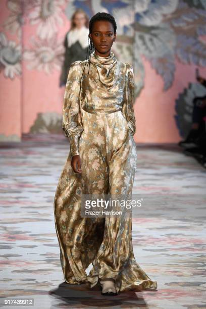 A model walks the runway for Zimmermann during New York Fashion Week The Shows at Gallery I at Spring Studios on February 12 2018 in New York City