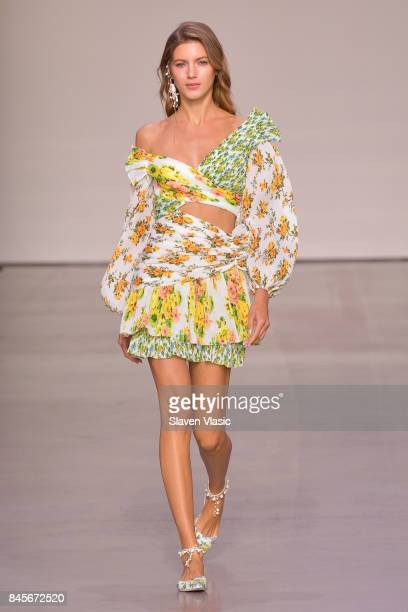 A model walks the runway for Zimmermann fashion show during New York Fashion Week The Shows at Spring Studios on September 11 2017 in New York City