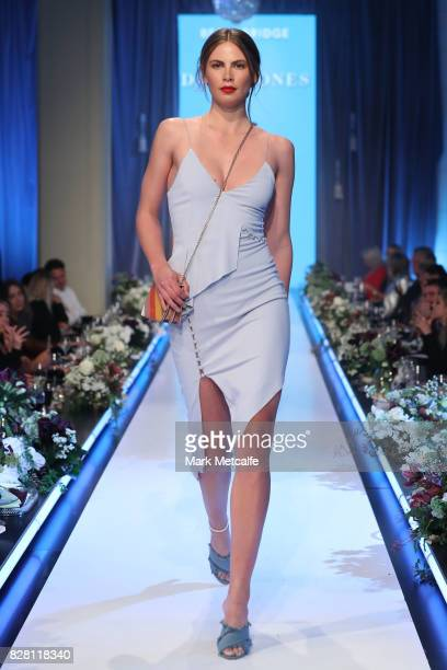 A model walks the runway in a design by Bec Bridge during the David Jones Spring Summer 2017 Collections Launch at David Jones Elizabeth Street Store...