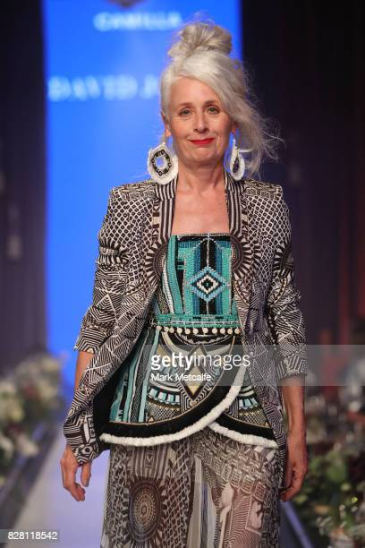 A model walks the runway in a design by Camilla during the David Jones Spring Summer 2017 Collections Launch at David Jones Elizabeth Street Store on...