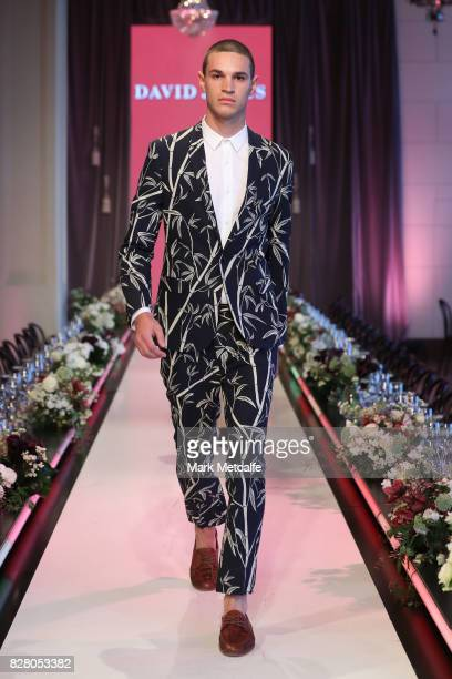 A model walks the runway in a design by Jack London during rehearsal ahead of the David Jones Spring Summer 2017 Collections Launch at David Jones...