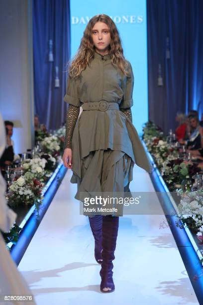 A model walks the runway in a design by KitX during the David Jones Spring Summer 2017 Collections Launch at David Jones Elizabeth Street Store on...