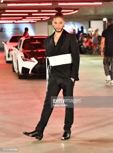 A model walks the runway in a design by Octavius Terry during The Art Institute of Atlanta 2020 Fashion Premiere Show at The Art Institute of Atlanta...