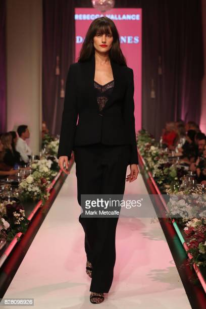 A model walks the runway in a design by Rebecca Vallance during the David Jones Spring Summer 2017 Collections Launch at David Jones Elizabeth Street...