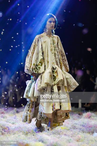Model walks the runway in a design by Romance Was Born during the Afterpay's Future of Fashion show during Afterpay Australian Fashion Week 2021...