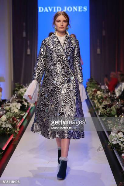 A model walks the runway in a design by Romance Was Born during the David Jones Spring Summer 2017 Collections Launch at David Jones Elizabeth Street...