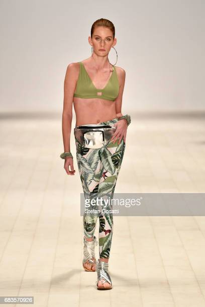 A model walks the runway in a design by SEAFOLLY during the Active Collective show at MercedesBenz Fashion Week Resort 18 Collections at...