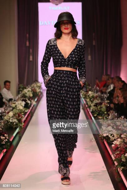 A model walks the runway in a design by Tigerlily during the David Jones Spring Summer 2017 Collections Launch at David Jones Elizabeth Street Store...