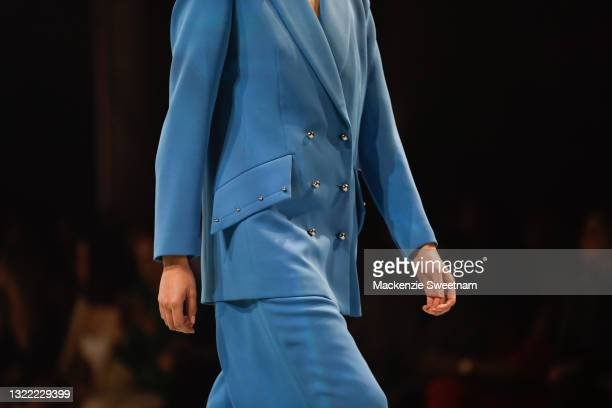 Model walks the runway in designs by Sass and Bide during the Afterpay's Future of Fashion show during Afterpay Australian Fashion Week 2021 Resort...