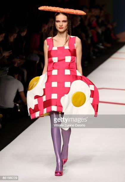 A model walks the runway in the Agatha Ruiz De La Prada show during Milan Fashion Week Womenswear Autumn/Winter 2009 on March 3 2009 in Milan Italy