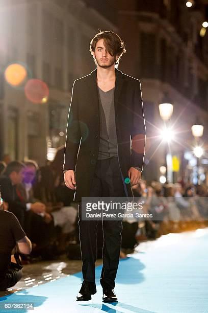 A model walks the runway in the Antonio Banderas fashion show during the VI Larios Malaga Fashion Week on September 17 2016 in Malaga Spain