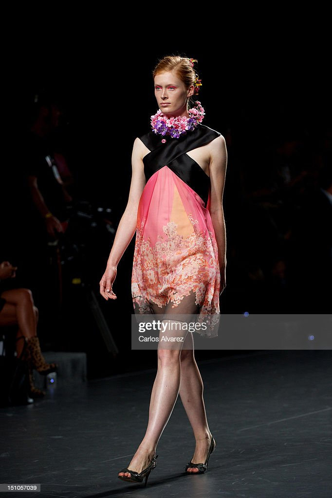 A model walks the runway in the Devota & Lomba fashion show during the Mercedes-Benz Fashion Week Madrid Spring/Summer 2013 at Ifema on August 31, 2012 in Madrid, Spain.