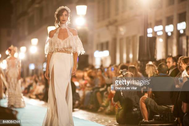 A model walks the runway in the Impecable Modas fashion show during the VII Larios Malaga Fashion Week on September 16 2017 in Malaga Spain