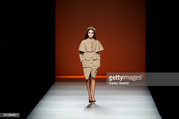 A model walks the runway in the Lemoniez fashion show during the Cibeles Madrid Fashion Week Spring/Summer 2013 at Ifema on September 1 2012 in...