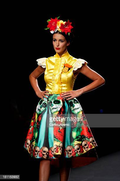 Model walks the runway in the Maya Hansen fashion show during the Mercedes-Benz Fashion Week Madrid Spring/Summer 2013 at Ifema on September 2, 2012...