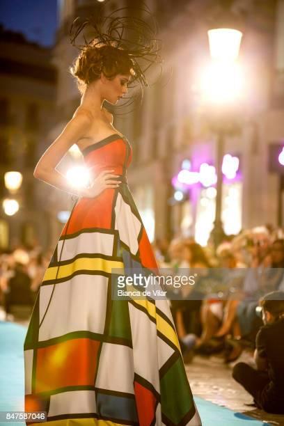 A model walks the runway in the Sonia Peña fashion show during the VII Larios Malaga Fashion Week on September 15 2017 in Malaga Spain