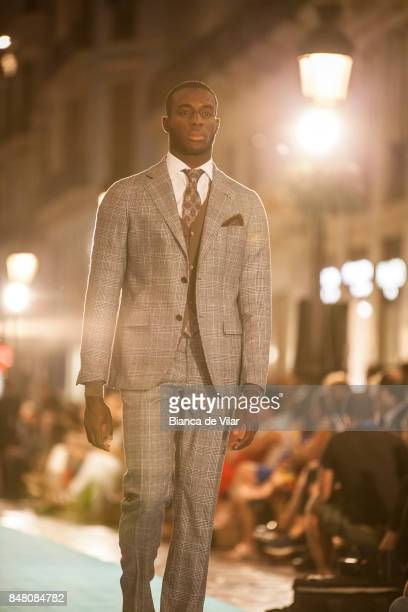 A model walks the runway in the Yera fashion show during the VII Larios Malaga Fashion Week on September 16 2017 in Malaga Spain