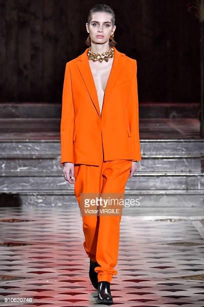 897f378e8 A model walks the runway Maison Rabih Kayrouz Haute Couture Spring Summer  2018 show as part
