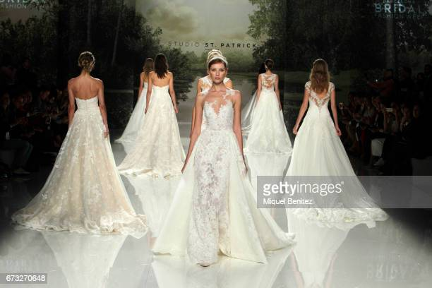 A model walks the runway of Studio St Patrick collection during Barcelona Bridal Fashion Week 2017 on April 26 2017 in Barcelona Spain