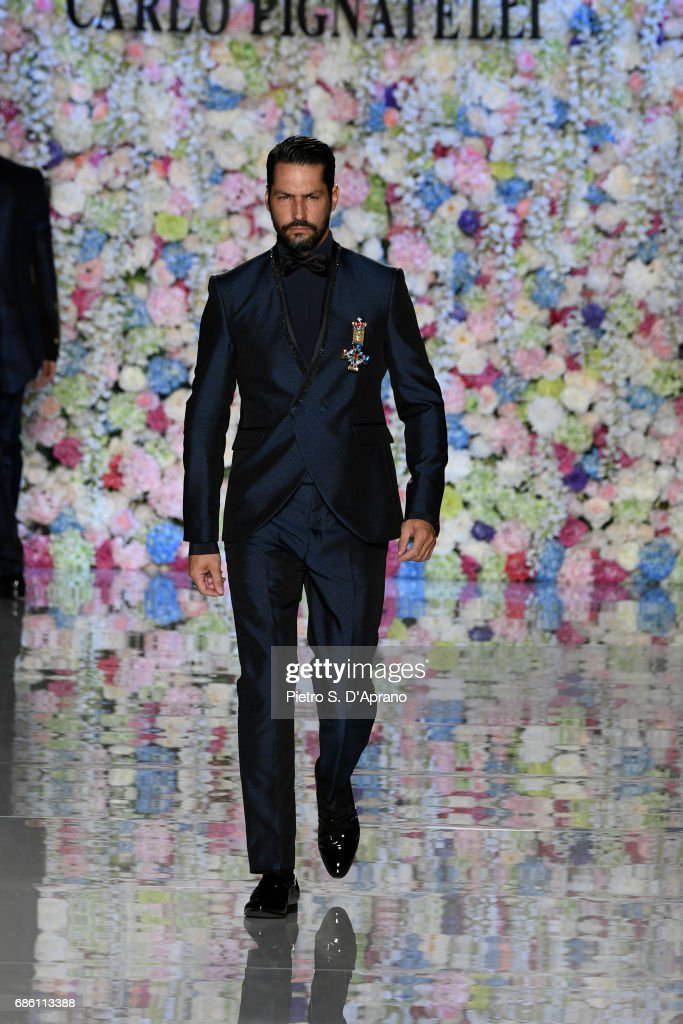 A model walks the runway of the Carlo Pignatelli Haute Couture fashion show on May 20, 2017 in Milan, Italy.