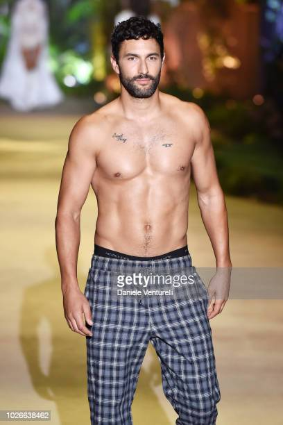 A model walks the runway of the Intimissimi Show on September 4 2018 in Verona Italy