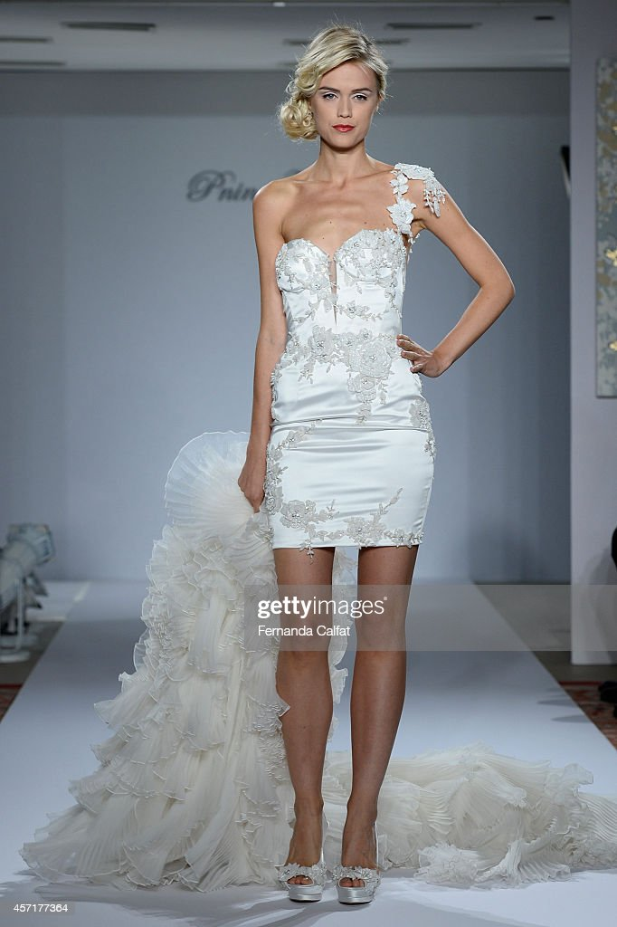 info for 2bd3b 5d154 A model walks the runway Pnina Tornai For Kleinfeld Runway ...