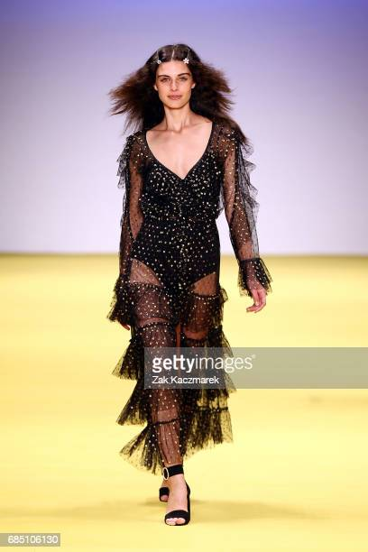 A model walks the runway showcasing designs by Alice McCall during the Alice McCall show at MercedesBenz Fashion Week Weekend Edition at...