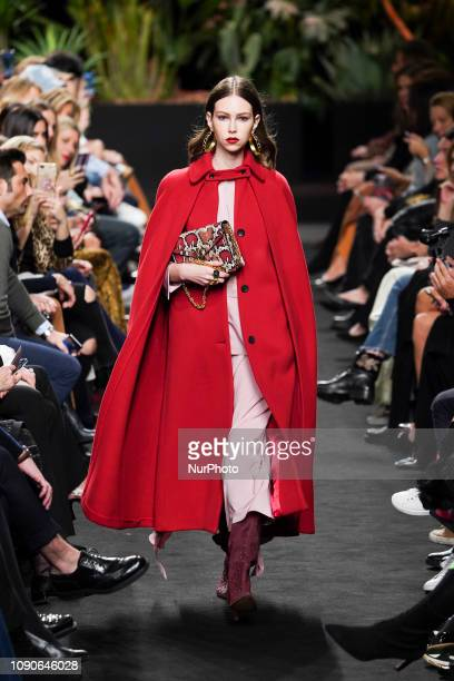 A model walks the runway 'Steps AW 19/20' during the Jorge Vazquez fashion show at the Madrid Mercedes Benz Fashion Week Autumn/Winter 20192020 on...