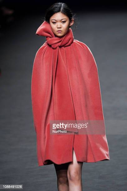 A model walks the runway 'Steps AW 19/20' during the THEN 2ND SKIN CO fashion show at the Madrid Mercedes Benz Fashion Week Autumn/Winter 20192020 on...