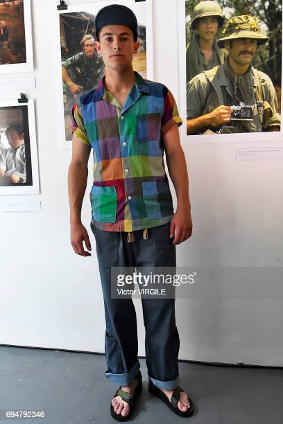 889675bb933851 A model walks the runway the Nigel Cabourn presentation during the London  Fashion Week Men s June