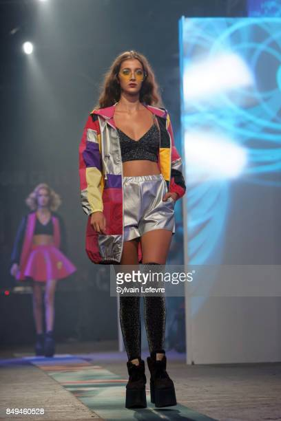 A model walks the runway wearing a creation by Ninii during the 10th '48h Maisons De Mode' fashion show on September 15 2017 in Lille France