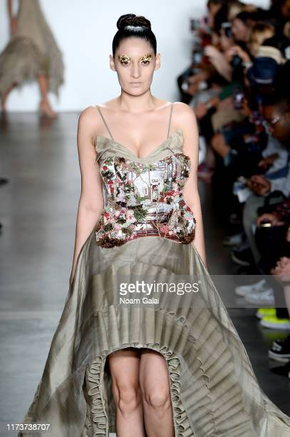 A model walks the runway wearing A Humming Way for CAAFD Emerging Designer Collective during New York Fashion Week The Shows on September 10 2019 in...