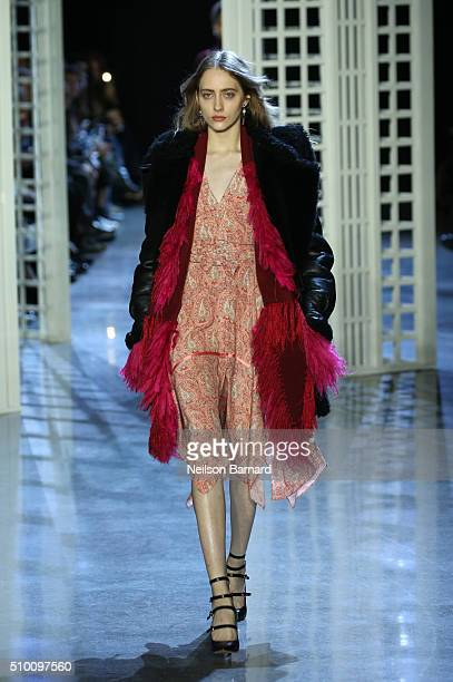 A model walks the runway wearing Altuzarra Fall 2016 during New York Fashion Week at Spring Studios on February 13 2016 in New York City