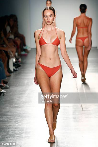 A model walks the runway wearing Ark Swimwear at Fashion Palette Australian Womenswear New York Fashion Week Spring/Summer 2017 at Pier 59 Studios on...