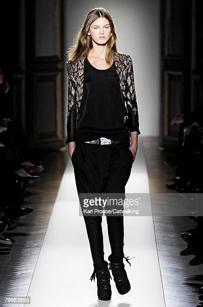 Model walks the runway wearing Balmain at the Fall/Winter 2008/2009 collection during Paris Fashion Week on the 24th of February 2008 in Paris,France.