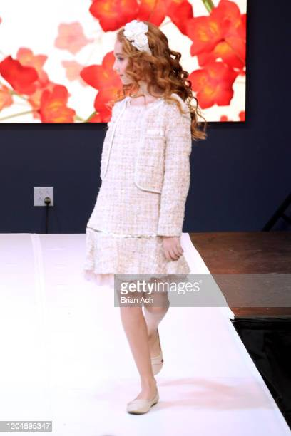 Model walks the runway wearing Bebe's and Liz's presents Cleopatra during NYFW Powered By hiTechMODA on February 08, 2020 in New York City.