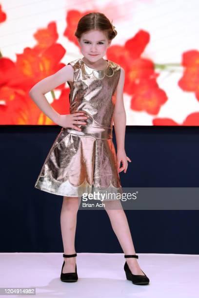 Model walks the runway wearing Bebe's and Liz's presents MODA Models during NYFW Powered By hiTechMODA on February 08, 2020 in New York City.