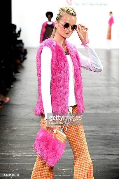 A model walks the runway wearing Bianca Zidik at The Art Institutes fashion show during New York Fashion Week The Shows September 2016 at The Arc...